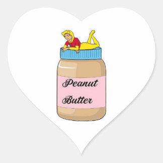 Peanut Butter vibes Heart Sticker