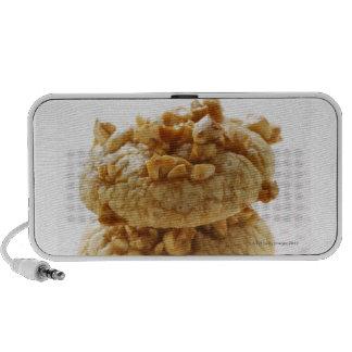 Peanut cookies in a pile speaker system