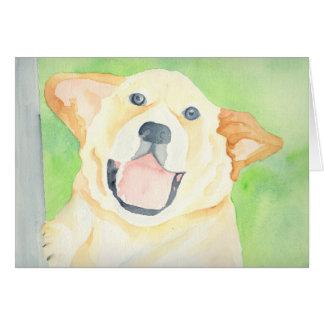 Peanut Cute Beagle Blank Greeting Card