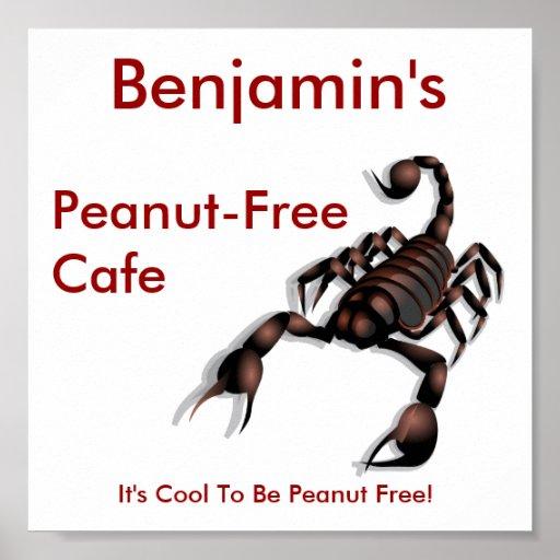 Peanut-free Cafe sign