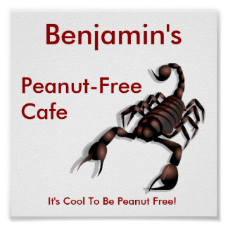 Peanut-free Cafe sign Posters
