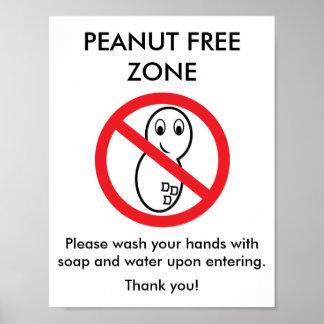 Peanut Free Zone Poster
