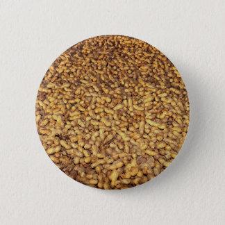 Peanut harvest, Cyprus texture 2 Inch Round Button