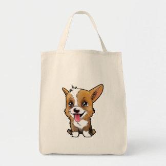 Peanut the corgi on to shopping bag!