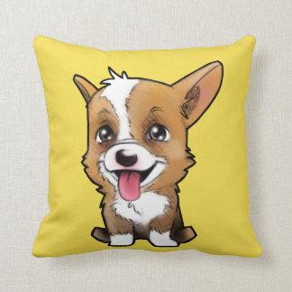 Peanut the corgi pillow Yellow