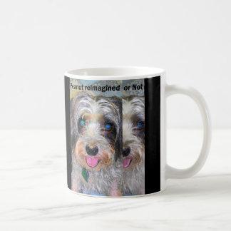 peanut the rescue dog coffee mug