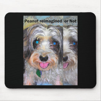 peanut the rescue dog mouse pad