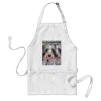 peanut the rescue dog standard apron