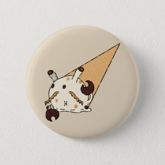 Peanutbutter Ice-cream Crab 2 Inch Round Button