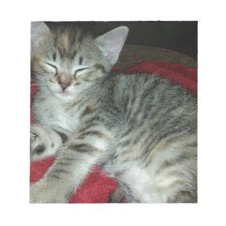 Peapicker kitty notepad