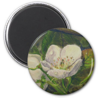 Pear Blossom Dream 2 Inch Round Magnet