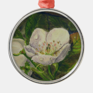 Pear Blossom Dream Metal Ornament
