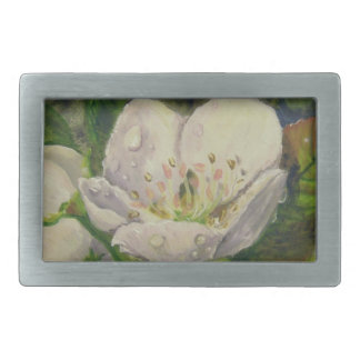Pear Blossom Dream Rectangular Belt Buckle