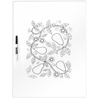 Pear Branch Adult Coloring Dry Erase White Board