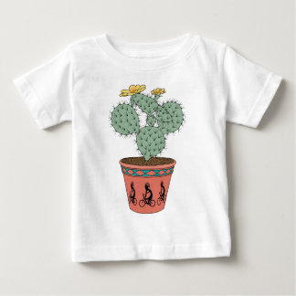 Pear Cactus Bike In Pot With Kokopelli On Bike Pat Baby T-Shirt