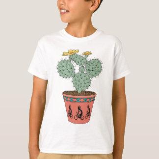 Pear Cactus Bike In Pot With Kokopelli On Bike Pat T-Shirt