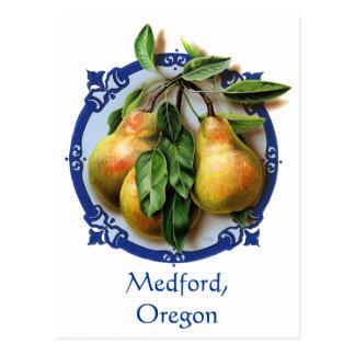 Pear Capitol of the world Medford,Oregon Souvenir. Postcard