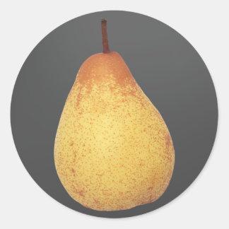 Pear Classic Round Sticker