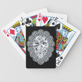 Pear Diamond Pin Bicycle Playing Cards
