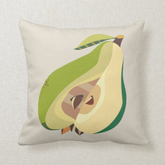 Pear fruit illustration throw pillow