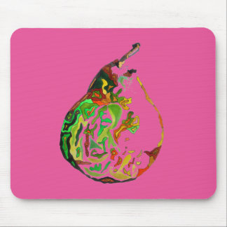 Pear fruit pop art watercolour illustration mouse pad
