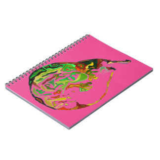 Pear fruit pop art watercolour illustration notebook