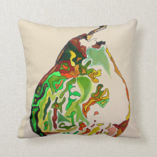 Pear fruit watercolour art illustration throw pillow