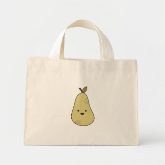 Pear Head Mini Tote Bag