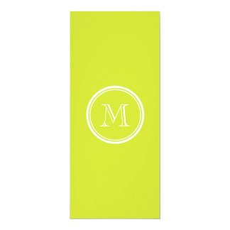 Pear High End Colored Monogram Initial 4x9.25 Paper Invitation Card