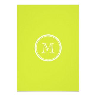 Pear High End Colored Monogram Initial Custom Invite