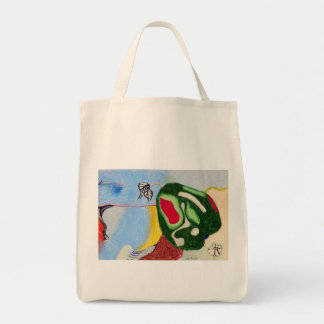 Pear on the mountain tote bag