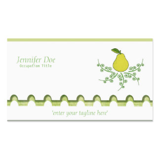 Pear on White Business Card Templates