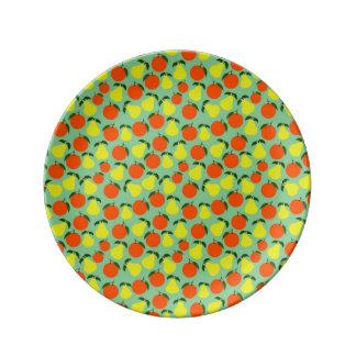 Pear & Orange porcelain plate