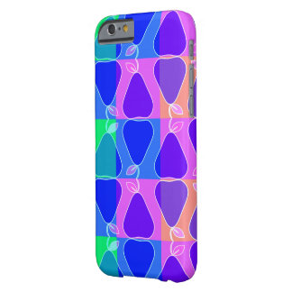 Pear pattern in blue barely there iPhone 6 case