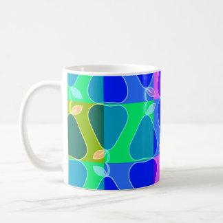 Pear pattern in blue coffee mug