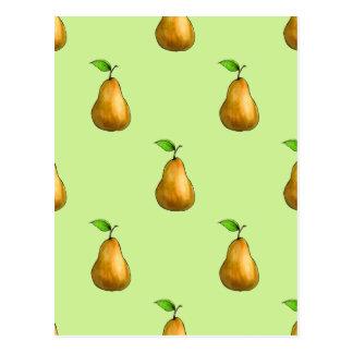 Pear Pattern Postcard