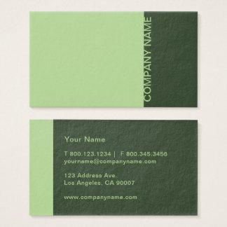 Pear Pine Green Modern Business Card