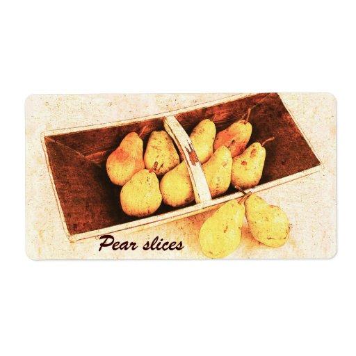 Pear preserves jar label