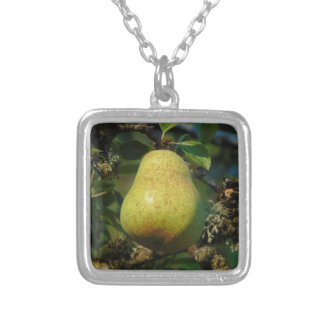 Pear Silver Plated Necklace