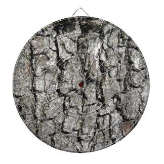 Pear tree bark texture background dartboard