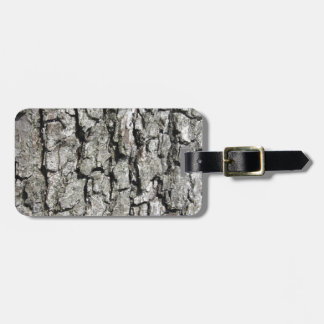 Pear tree bark texture background luggage tag