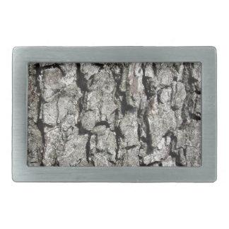 Pear tree bark texture background rectangular belt buckle