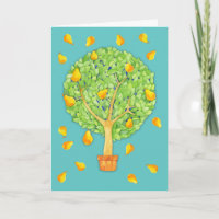 Pear tree cards greeting cards more zazzle ca pear tree pears teal blank greeting card m4hsunfo