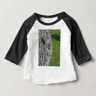 Pear tree trunk against green background baby T-Shirt