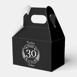 Pearl 30th wedding anniversary 30 years favor box