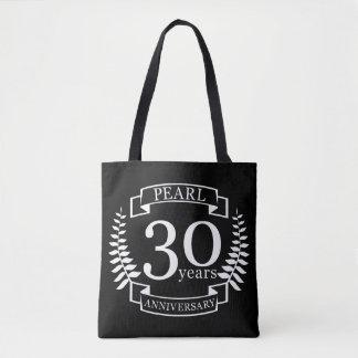 Pearl 30th wedding anniversary 30 years tote bag