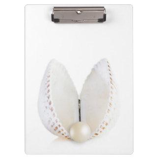 Pearl and seashell clipboard