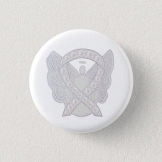 Pearl Angel Awareness Ribbon Custom Button Pins