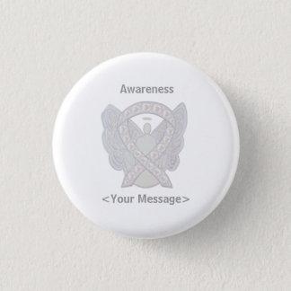 Pearl Angel Awareness Ribbon Custom Pin Button