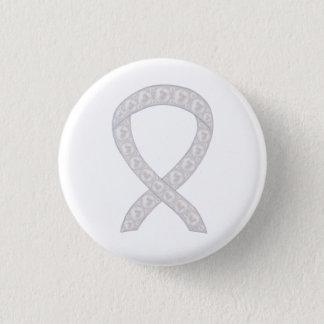 Pearl Awareness Ribbon Custom Design Button Pins